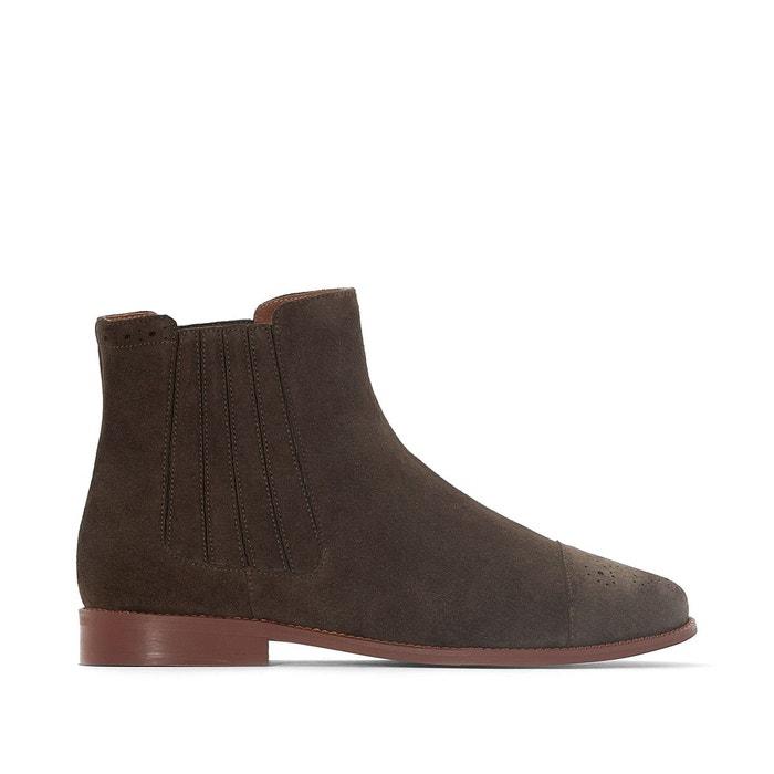 Boots cuir velours damalis Jonak