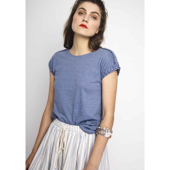 Marl T-Shirt with Short Braided Sleeves  COMPANIA FANTASTICA image 0