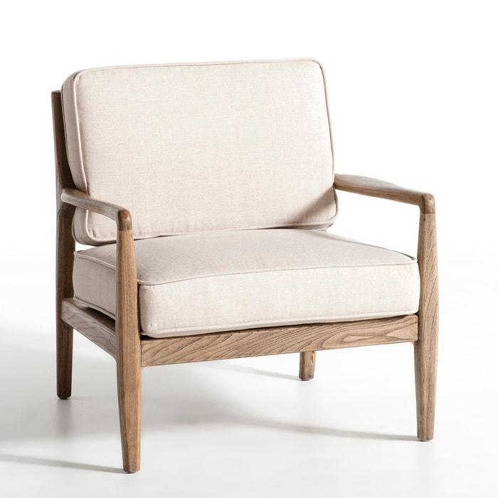 fauteuil toile lin dilma am pm la redoute. Black Bedroom Furniture Sets. Home Design Ideas