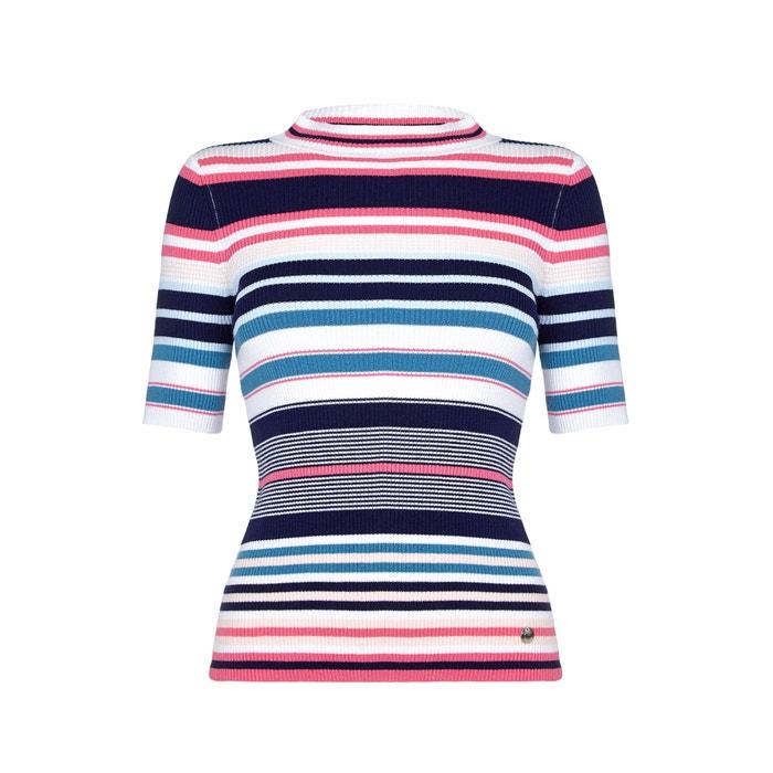 Image Short-Sleeved Striped Jumper YUMI