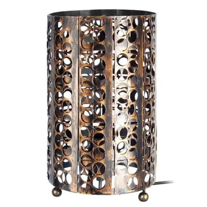 En A Métal Poser Perforé Lampe Cylindrique TlFJK1c3