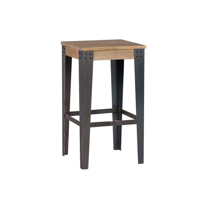 tabouret de bar industriel m tal et bois 65 cm madison noir miliboo la redoute. Black Bedroom Furniture Sets. Home Design Ideas