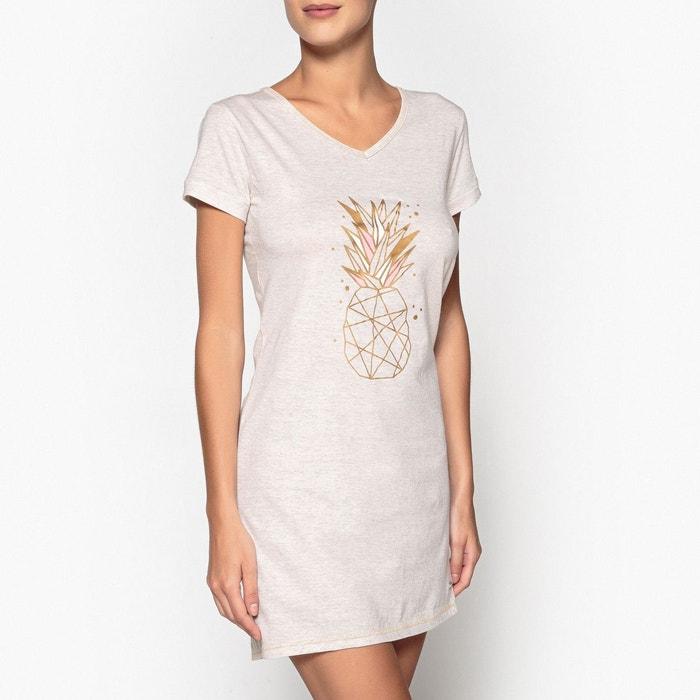 Chemise de nuit coton, imprimée, Ananas  DODO image 0