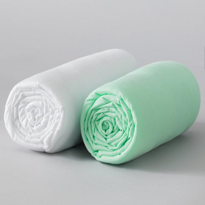 Lenzuolo con angoli tinta unita bébé in jersey elasticizzato, Xelie (confezione da 2)  La Redoute Interieurs image 0