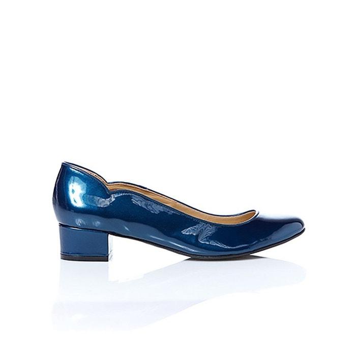 Escarpin - pervenche vernis bleu bleu Le Soulier Francais