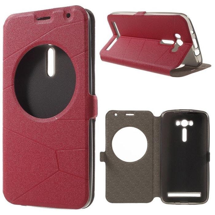 Housse ASUS Zenfone 2 LASER ZE550KL ROUGE Portefeuille AMAHOUSSE Image 0