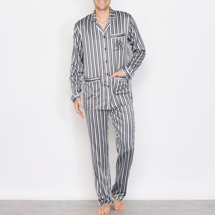 Image Pyjama satin rayé manches longues R essentiel