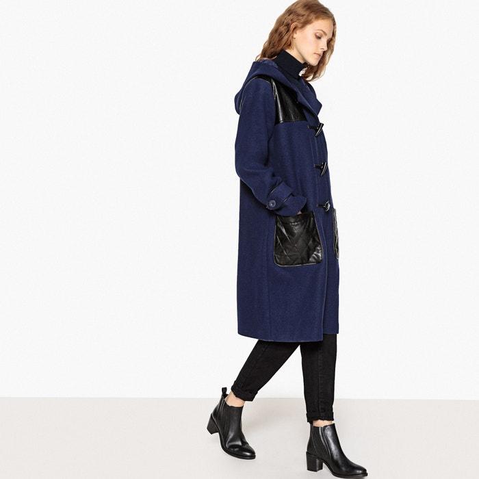 Trenca austríaca de mezcla de lana y detalles estilo quilt azul oscuro LA  REDOUTE COLLECTIONS 70ffa7b669f8