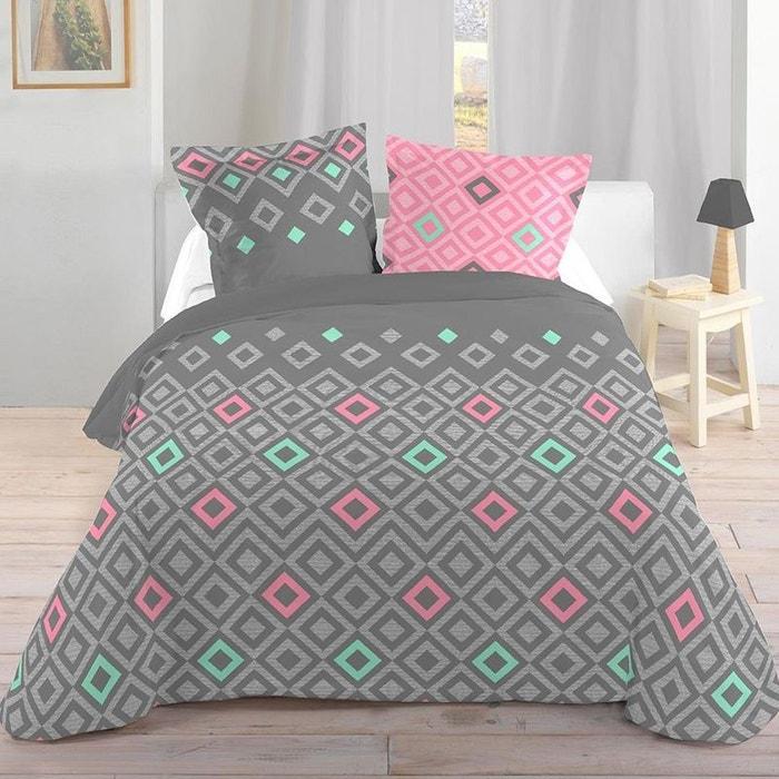 Parure de lit scandinave 260 x 240 cm couleur unique storex la redoute - La redoute parure de lit ...
