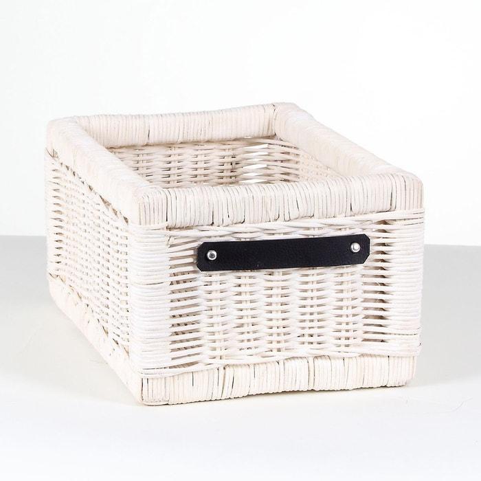 tiroir de rangement rotin blanc petit mod le blanc calicosy la redoute. Black Bedroom Furniture Sets. Home Design Ideas