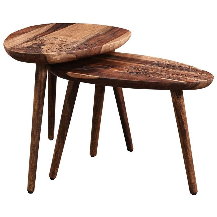 table basse gonda en bois lot de 2 bois rendez vous deco. Black Bedroom Furniture Sets. Home Design Ideas