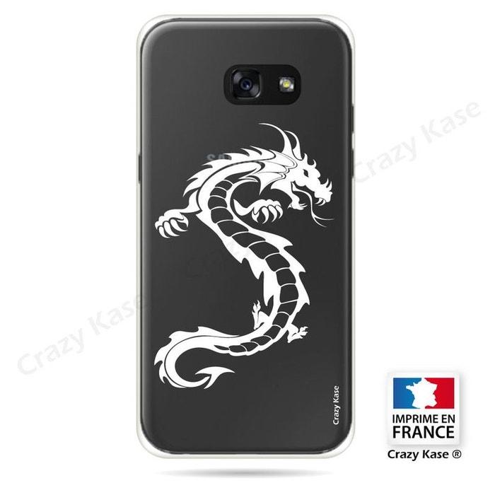 Coque pour Samsung Galaxy A3 (2017) souple Dragon Blanc