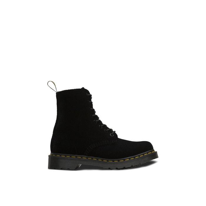 3b31f10b85f Boots velours 1460 pascal noir Dr Martens