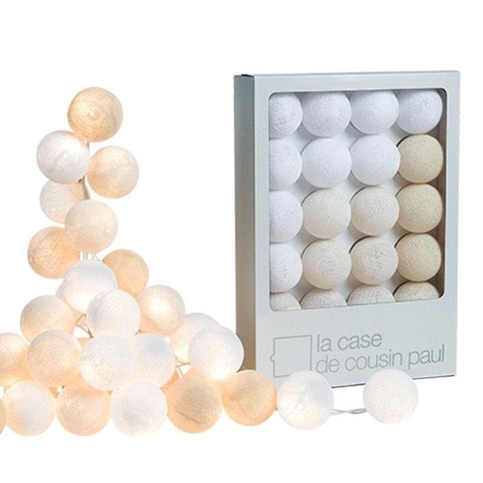 guirlande lumineuse 20 boules uyuni les beiges la case de cousin paul la redoute. Black Bedroom Furniture Sets. Home Design Ideas