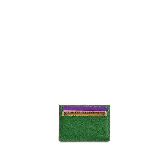 Indemnité De Vente Pas Cher Avec Paypal Jeu Très Pas Cher Porte carte et porte monnaie cuir vert et gris vert Entre 2 Retros | La Redoute Pas Cher En Ligne kA75eOW5rP