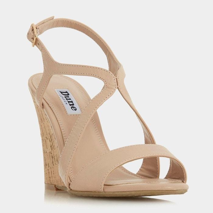 Sandales à talon compensé en liège et brides croisées Meilleur Magasin Pour Obtenir La Sortie 0NWpT