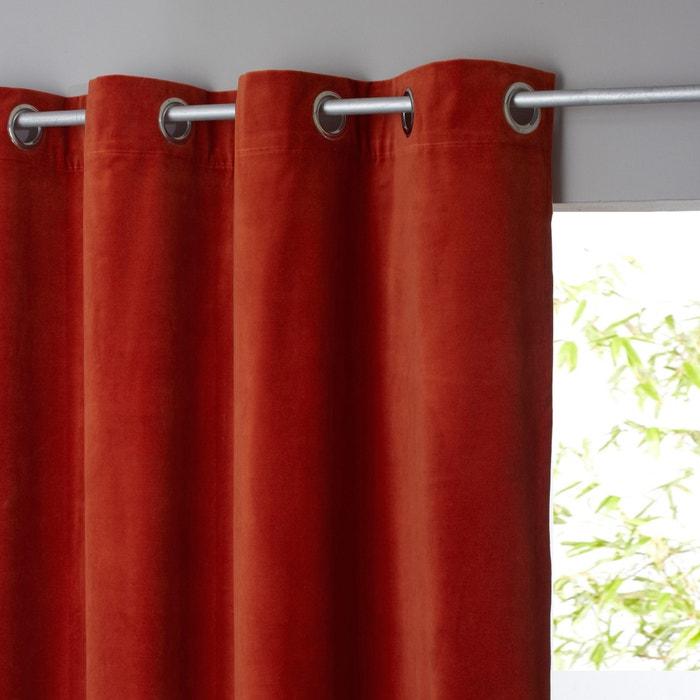 Teddy Sheer Velour Curtain with Eyelet Header