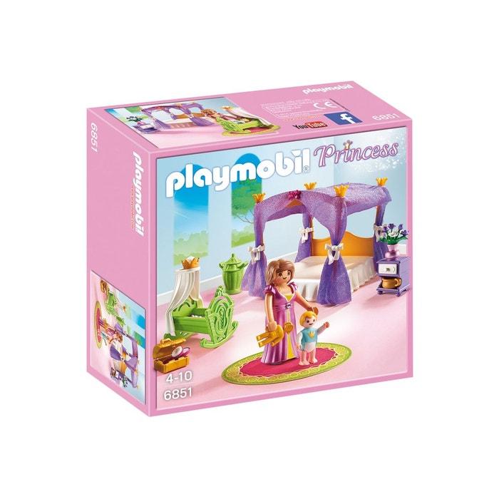Playmobil 6851 princess : chambre de la reine avec lit à baldaquin ...