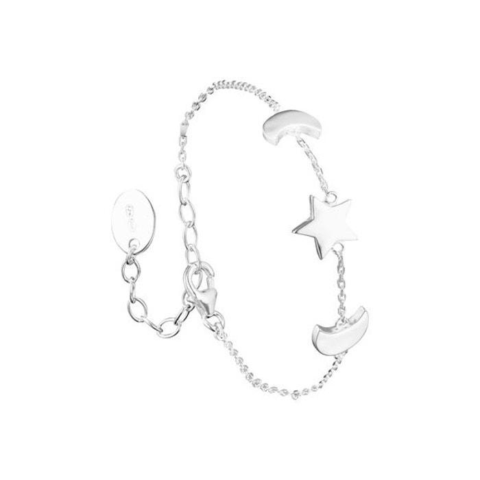 Bracelet chaîne lunes et étoile en argent 925 passivé, 3.05g argent Canyon | La Redoute