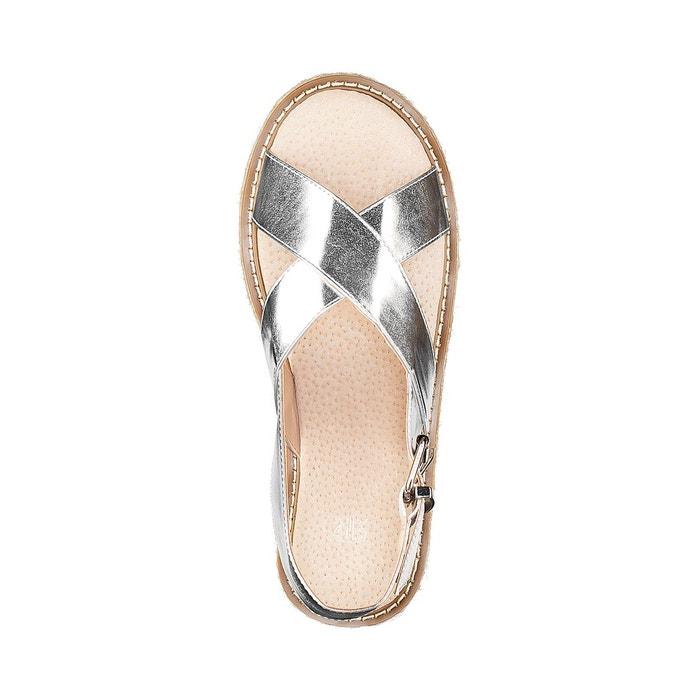 Sandales compensées détail corde La Redoute Collections