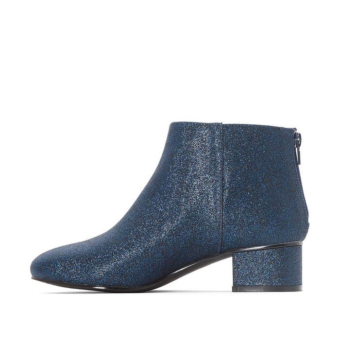 Boots détail paillettes bleu marine Mademoiselle R