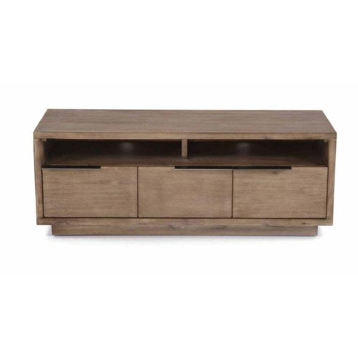 meuble t l 2 portes 1 tiroir et 2 niches kalisto naturel jardindeco la redoute. Black Bedroom Furniture Sets. Home Design Ideas