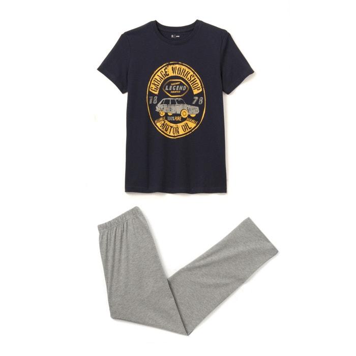 afbeelding Pyjama in katoen met motief 10-16 jr La Redoute Collections