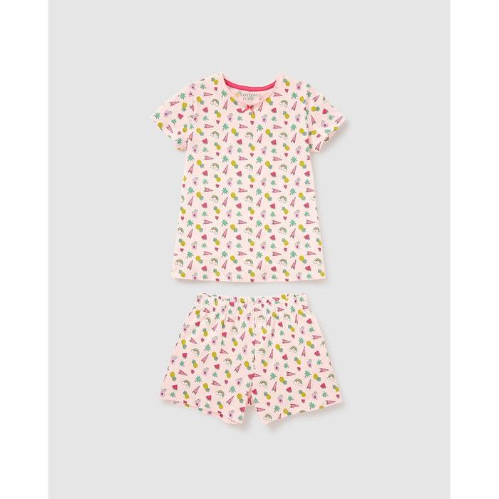 Pyjama short bébé fille Cotton Juice imprimé · Cotton Juice