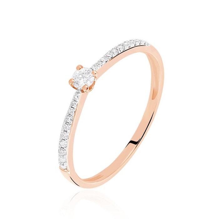 Solitaire or rose laetitia diamant rose Histoire D'or   La Redoute populaire EIRT2pEySR