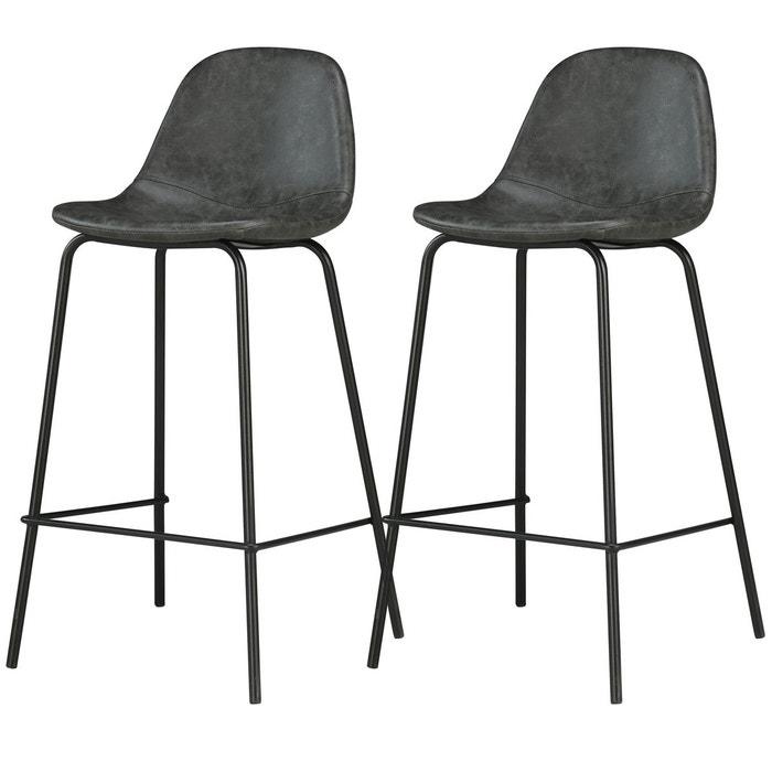 chaise de bar henrik 65 cm lot de 2 rendez vous deco. Black Bedroom Furniture Sets. Home Design Ideas