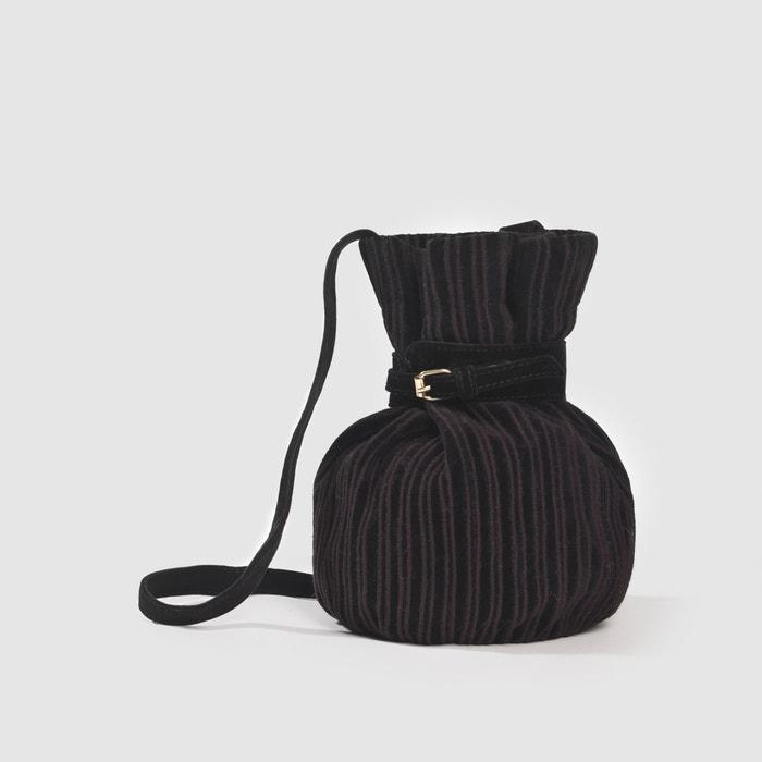 Image Sac à main bourse en velours noir Inès Olyme Marcadal x La Redoute