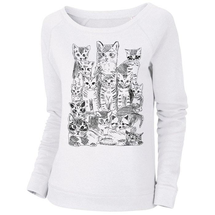 Sweatshirt imprimé bio tendance femme chatons Artecita   La Redoute 7f9f0cd235f5