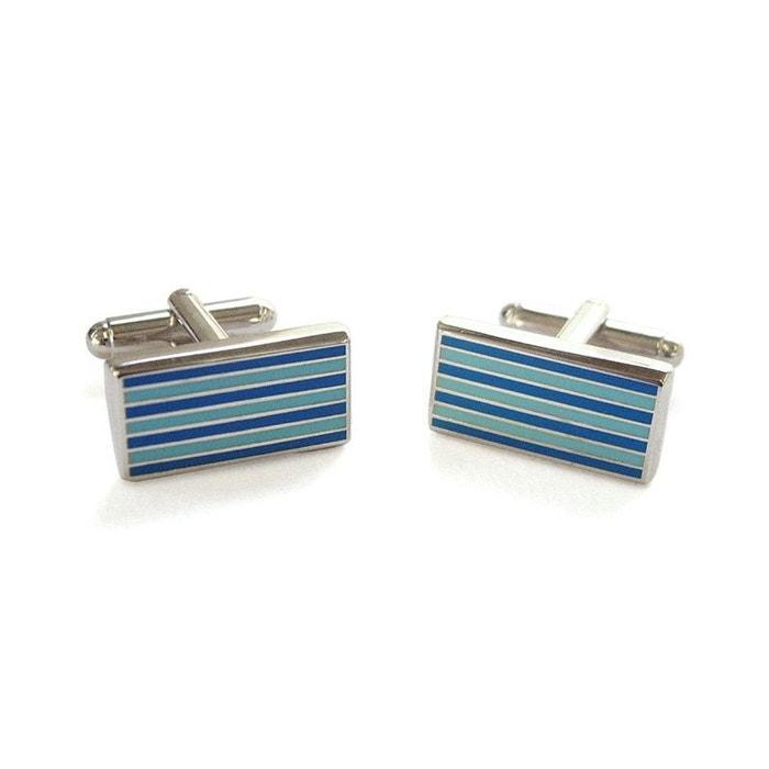 Bouton de manchette tyler & tyler, pinstripe, bleu bleu Tyler Et Tyler | La Redoute