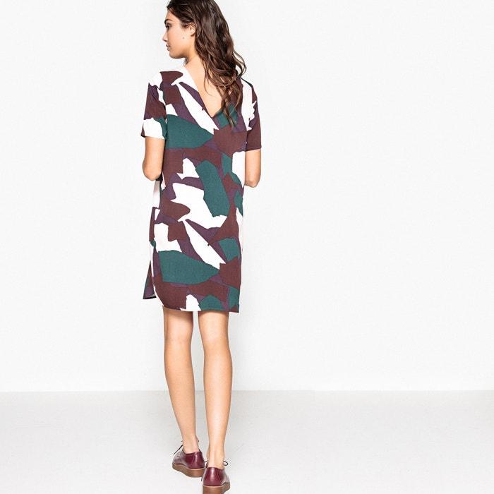 Imagen de Vestido recto con estampado camuflaje La Redoute Collections