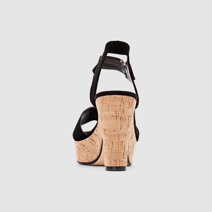 cuir compensées Yla ouvertes LONDON Sandales LONDON DUNE DUNE xqEwa1Czn