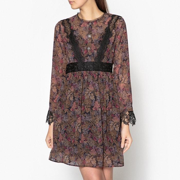 09fe2732c7b Платье короткое прямое с рисунком и длинными рукавами разноцветный The  Kooples