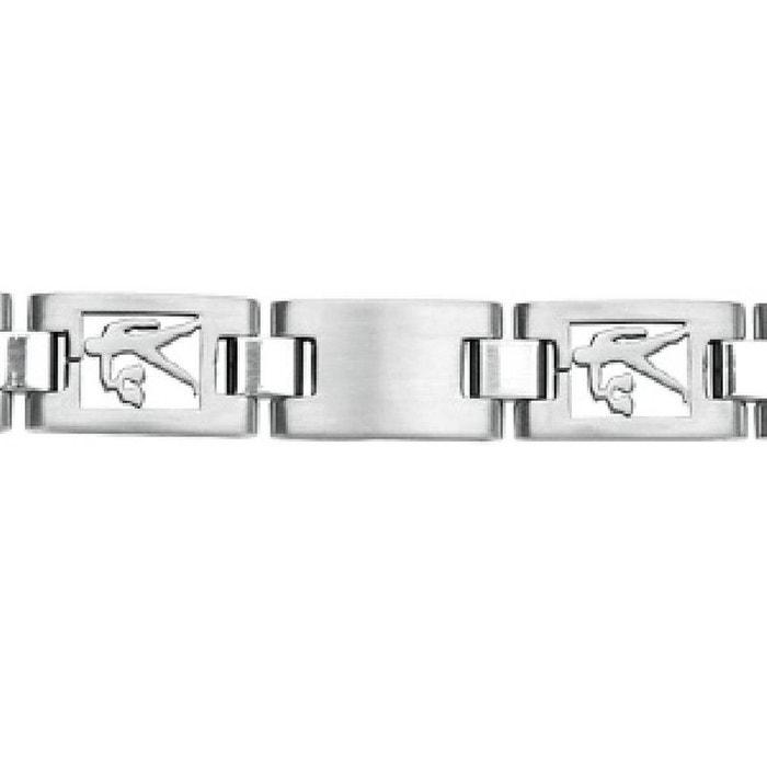 Bracelet homme 20,5 cm maille ajourée zodiaque balance acier inoxydable couleur unique So Chic Bijoux | La Redoute
