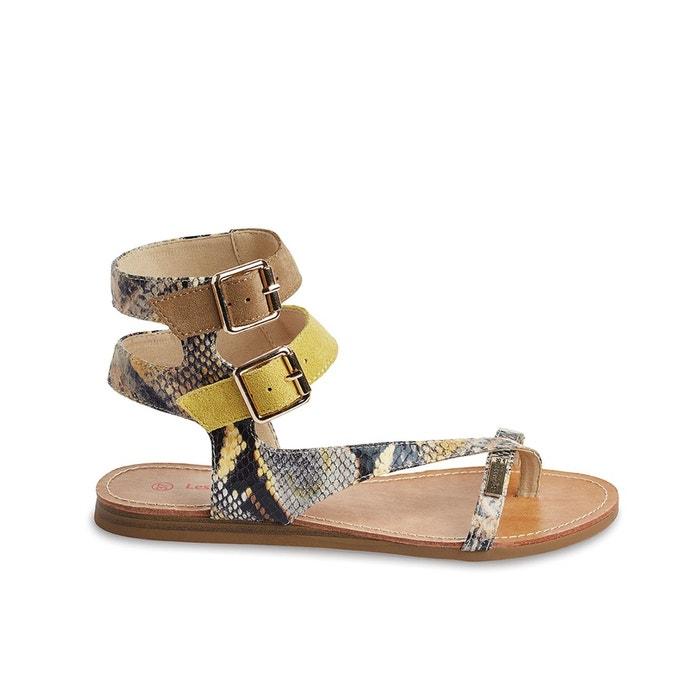sandales cuir plates gem les tropeziennes par m belarbi la redoute. Black Bedroom Furniture Sets. Home Design Ideas