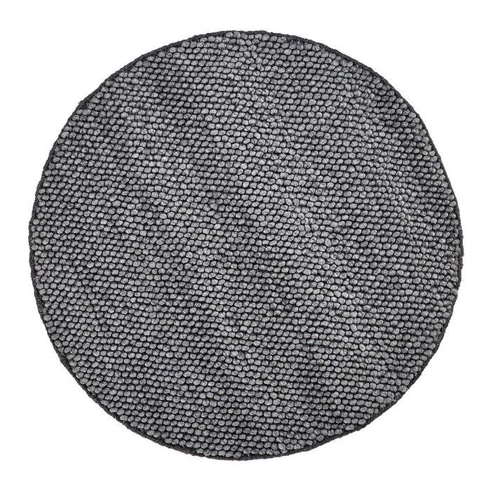 tapis rond m lange laine et viscose graphite deladeco beluga graphite deladeco la redoute. Black Bedroom Furniture Sets. Home Design Ideas