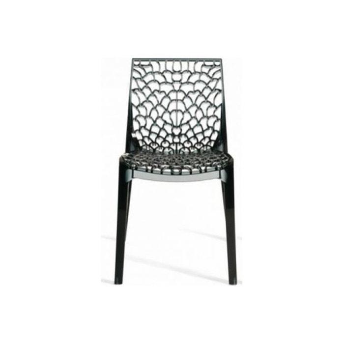 Chaise Design Gris Transparent Filet Declikdeco