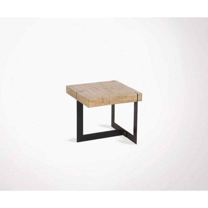 Petite Table Basse Bois Massif Et Metal Cornyco Bois Clair Meubles