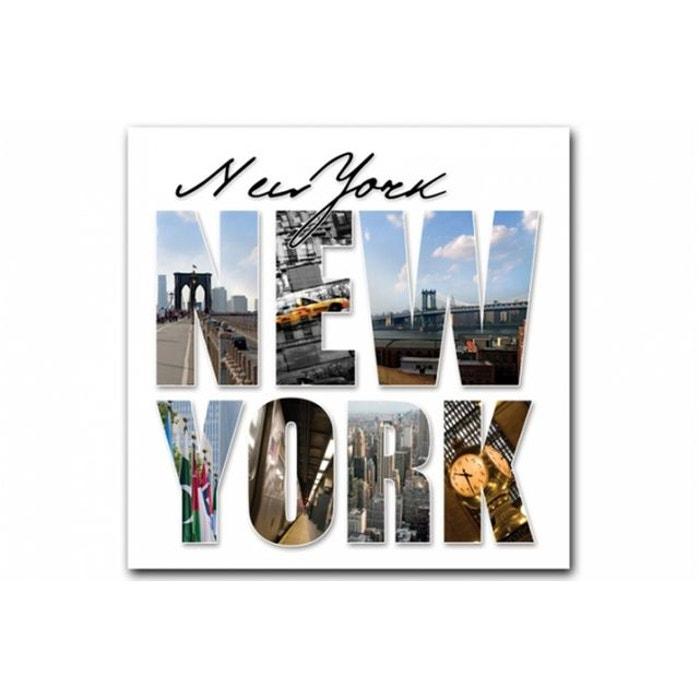 tableau new york lettres panorama 50x50 cm couleur unique declikdeco la redoute. Black Bedroom Furniture Sets. Home Design Ideas