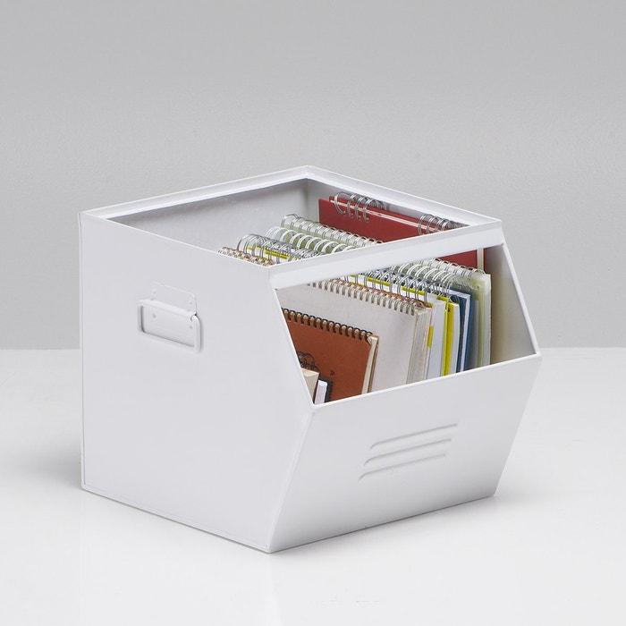 Imagen de Caja apilable de metal galvanizado, Hiba La Redoute Interieurs