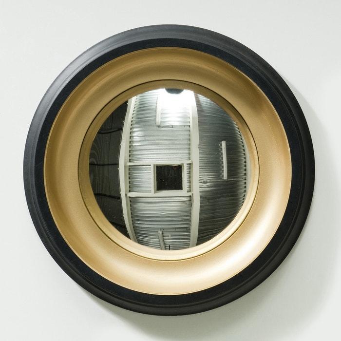 Espejo redondo 43 cm samantha negro dorado am pm la for Espejo redondo negro