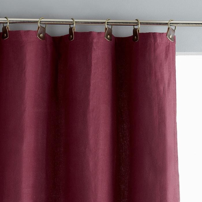rideau lin lav doubl passants cuir private am pm berry la redoute. Black Bedroom Furniture Sets. Home Design Ideas