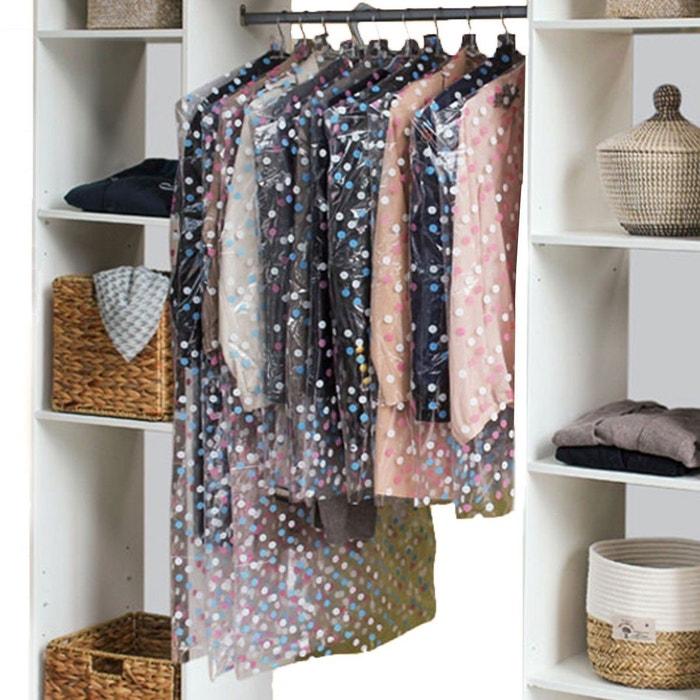 housse v tement anti mites motif pois lot de 10 multicolore calicosy la redoute. Black Bedroom Furniture Sets. Home Design Ideas