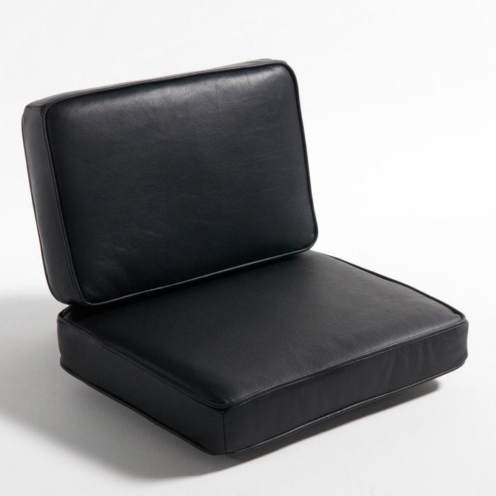 Coussin en cuir pour fauteuil dilma am pm la redoute - Coussins cuir pour canape ...