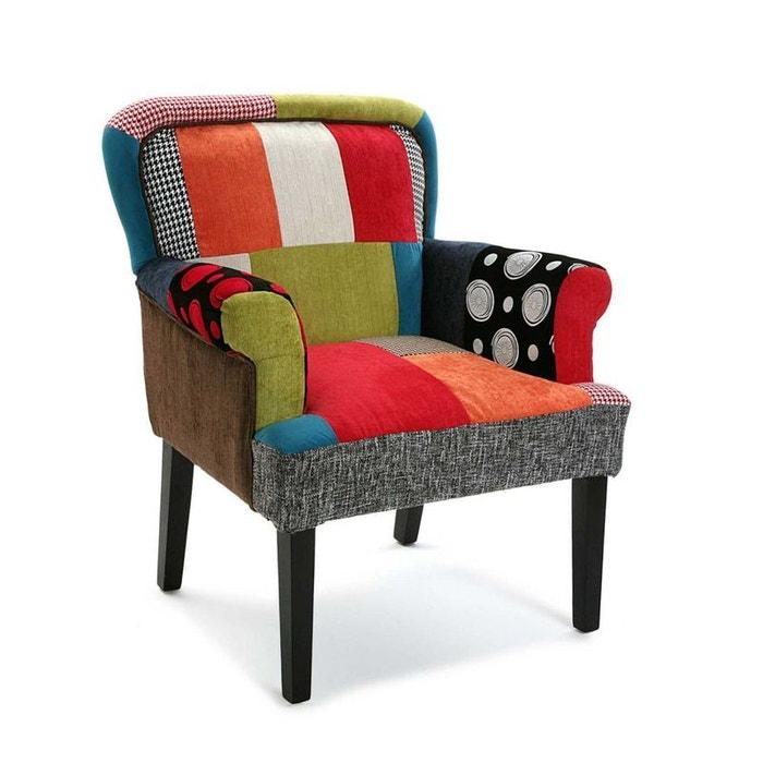 fauteuil club en tissu motif patchwork color 72x71x89cm barcelone pier import la redoute mobile. Black Bedroom Furniture Sets. Home Design Ideas