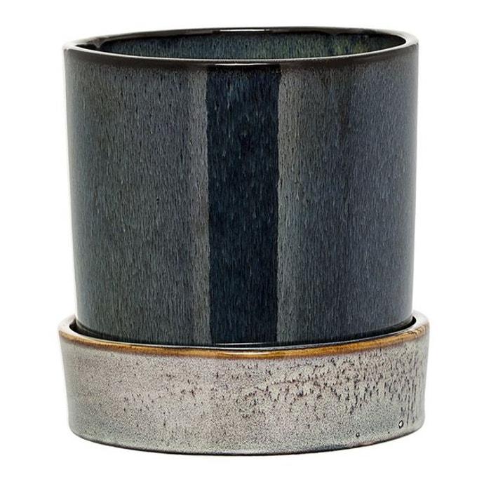 pot de fleurs avec soucoupe bloomingville 14 cm. Black Bedroom Furniture Sets. Home Design Ideas