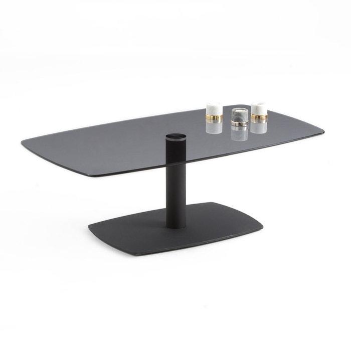 Table Basse En Verre Trempe Berard Noir La Redoute Interieurs